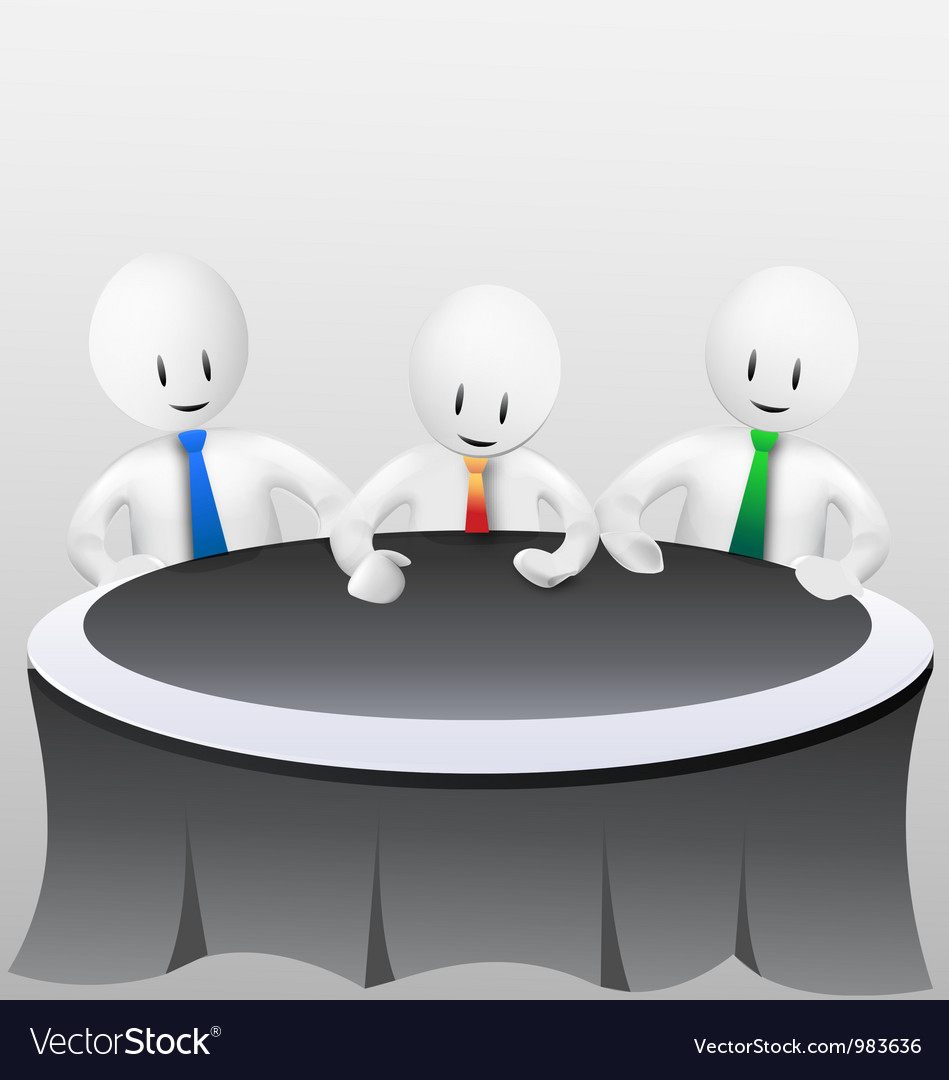 3d business menmeeting vector