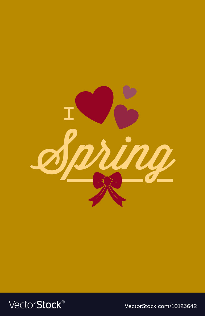 With love spring and