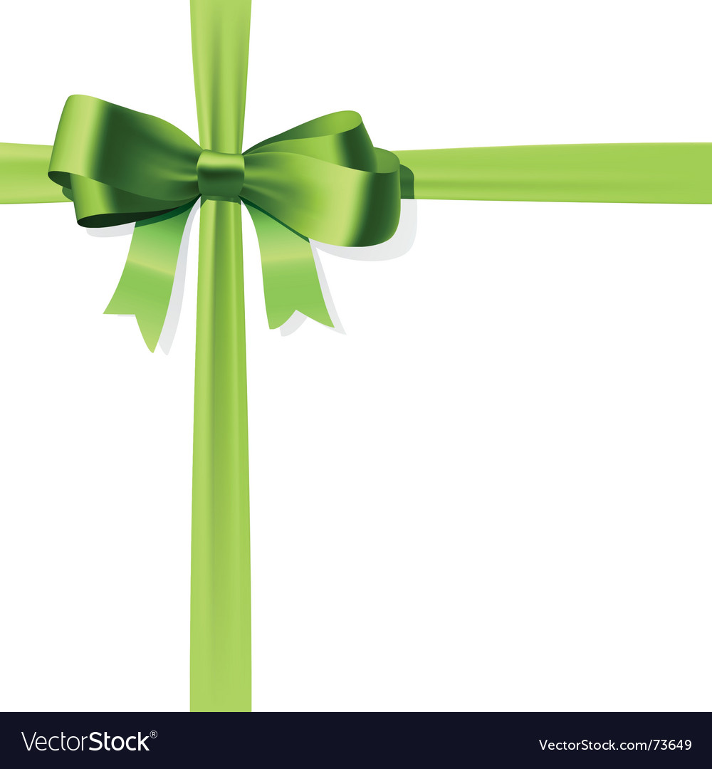 Gift bow vector