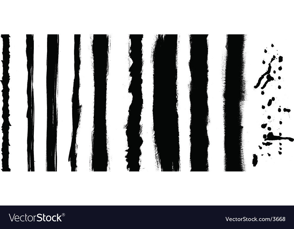 Black stripes vector