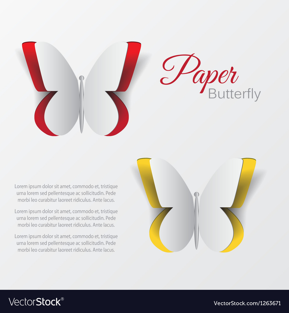 Paper buterfly vector