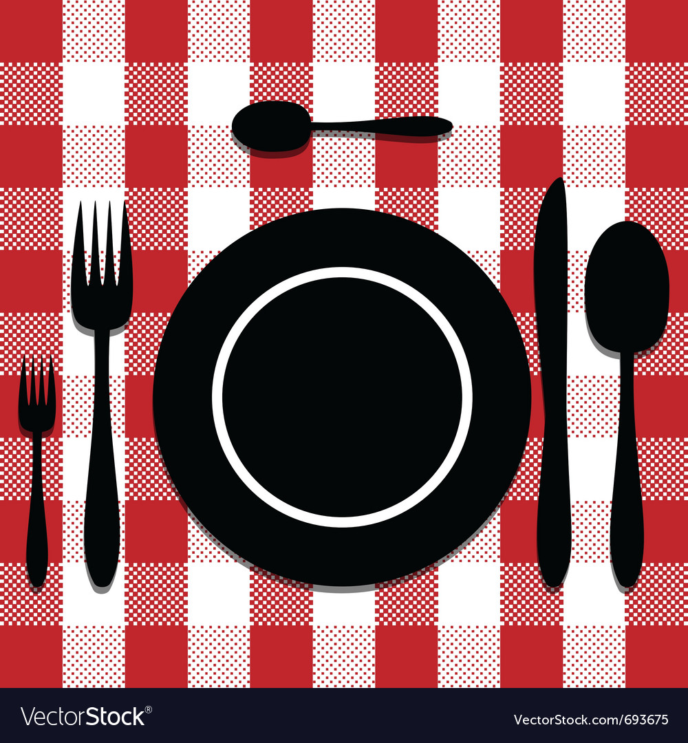 Cutlery set vector