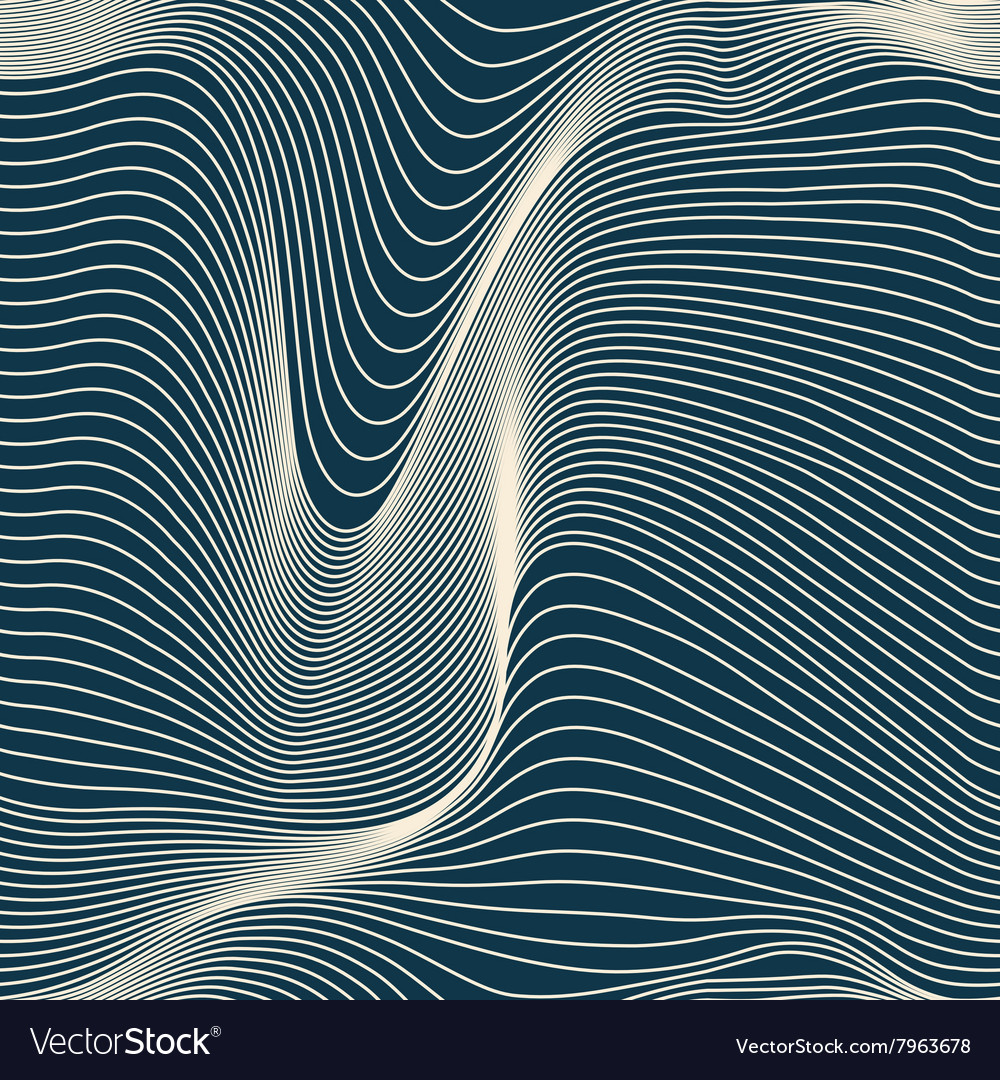 Abstract wavy lines seamless vector