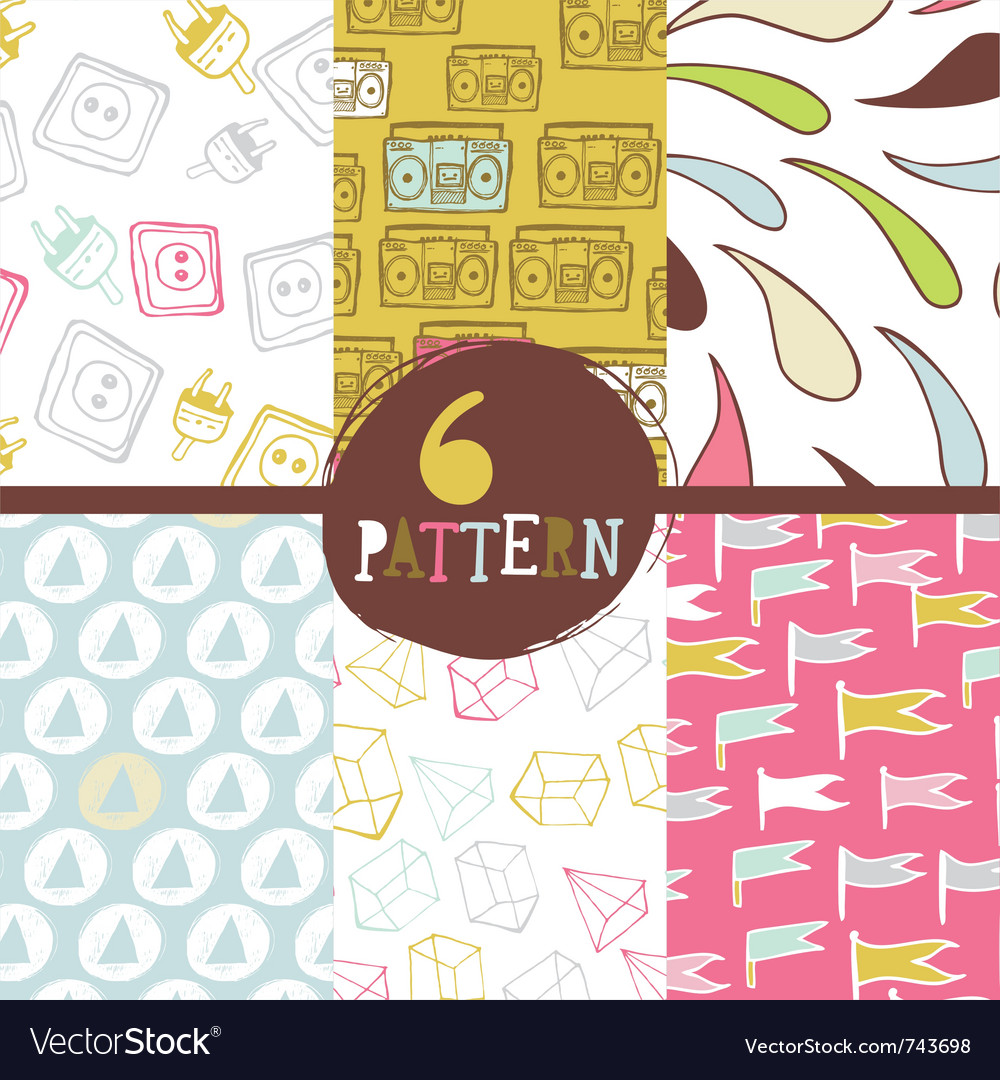 Vintage patterns vector