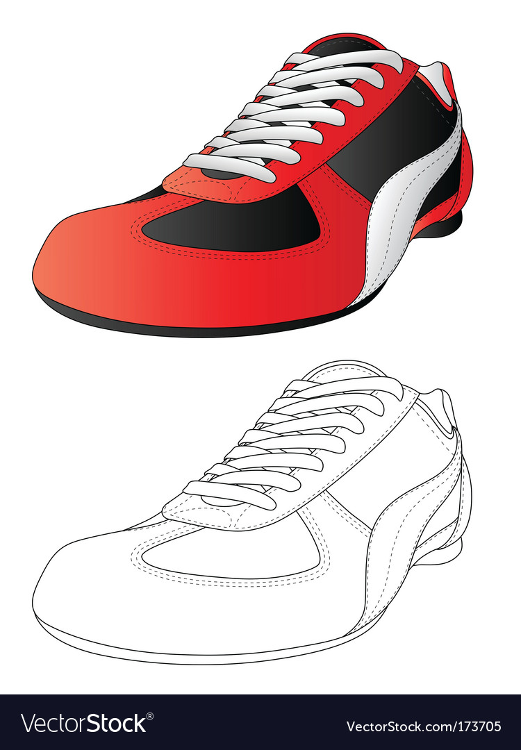 Sportshoes vector