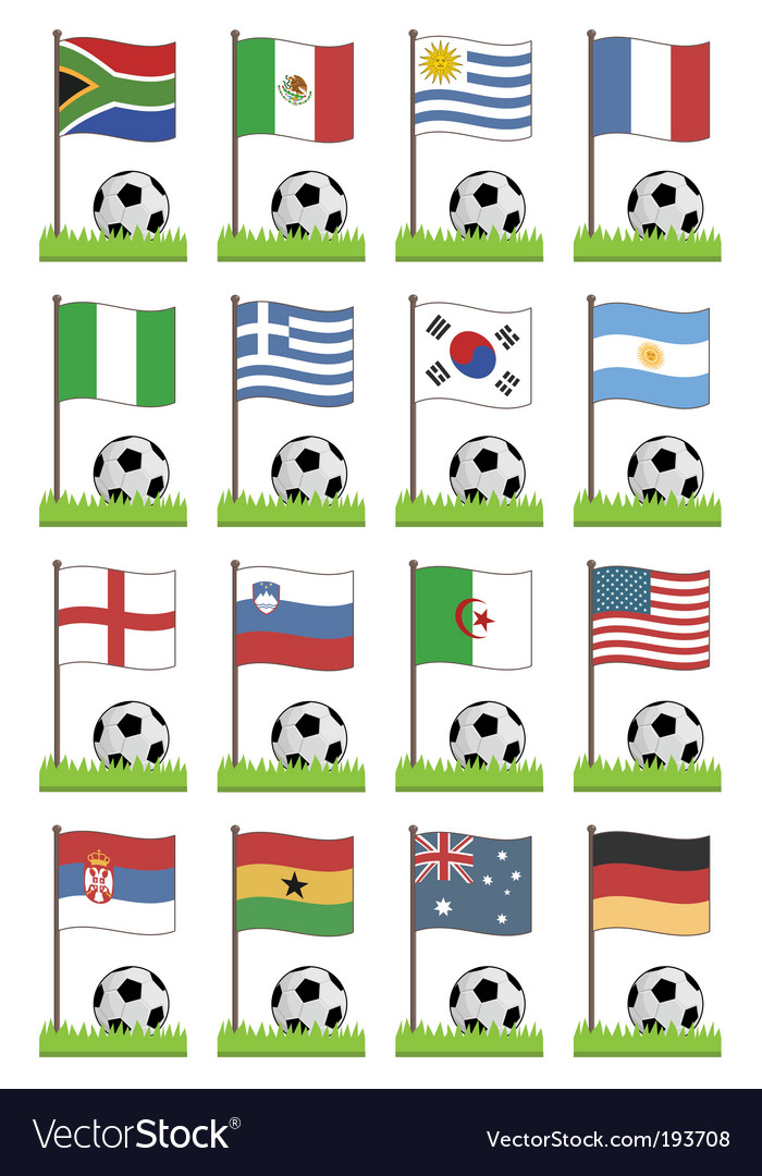 Football flags vector