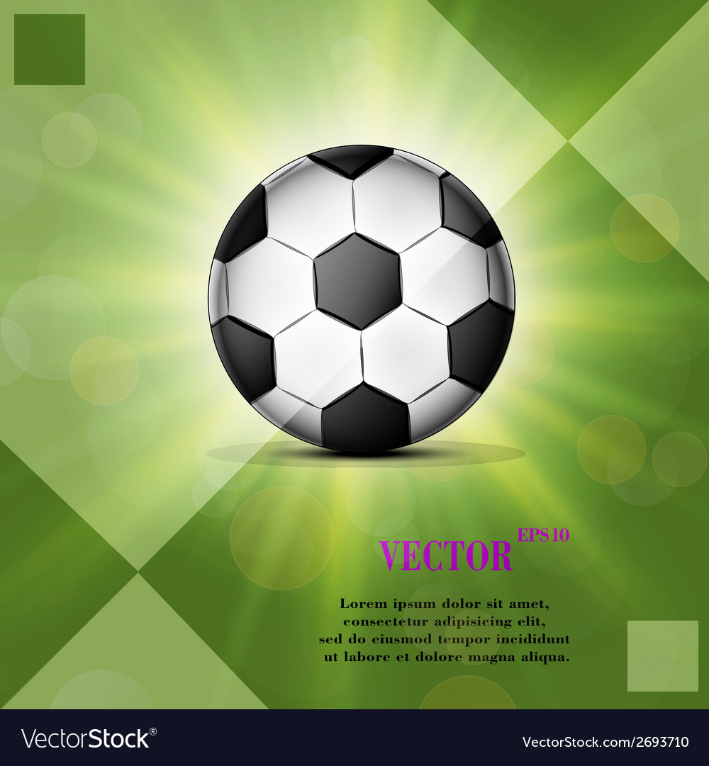 Soccer ball web icon on a flat geometric abstract