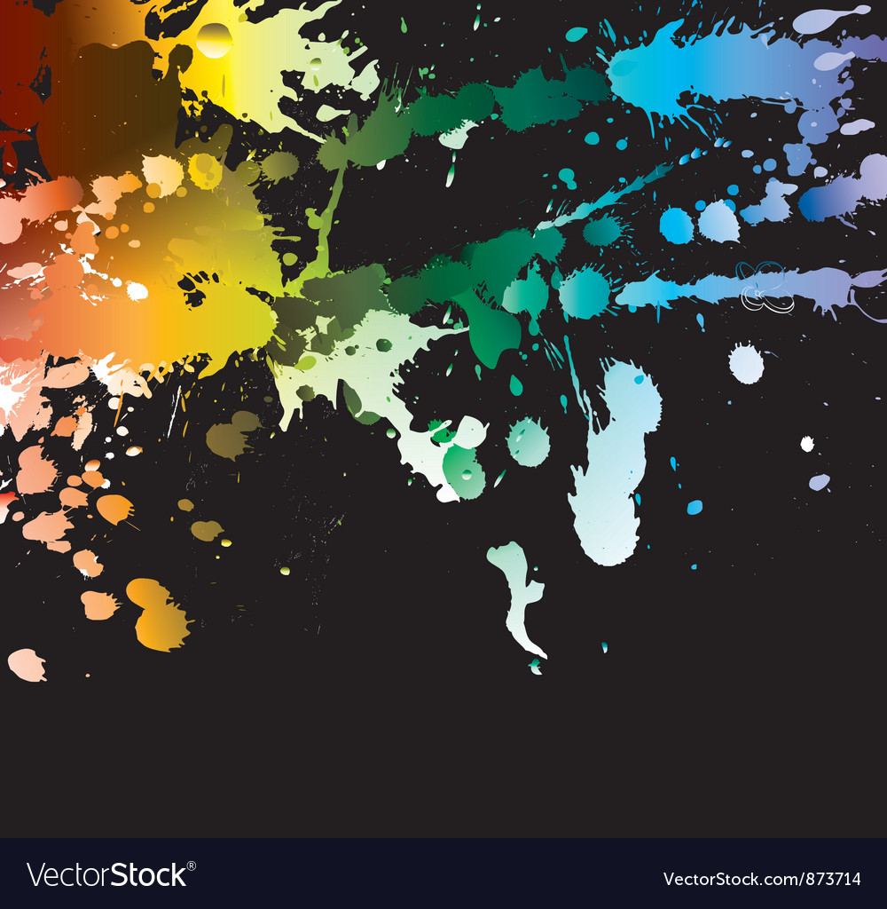 Free watercolor splash vector