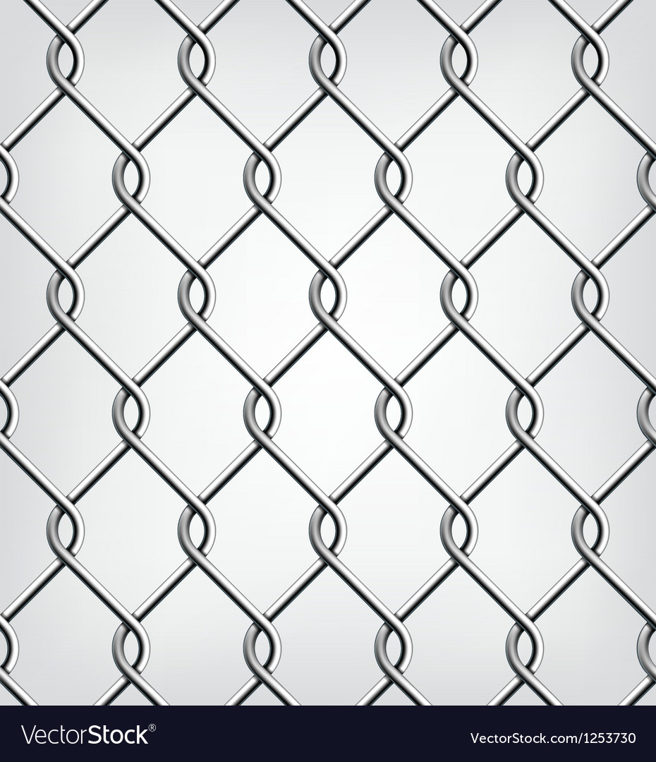 Seamless chain fence vector