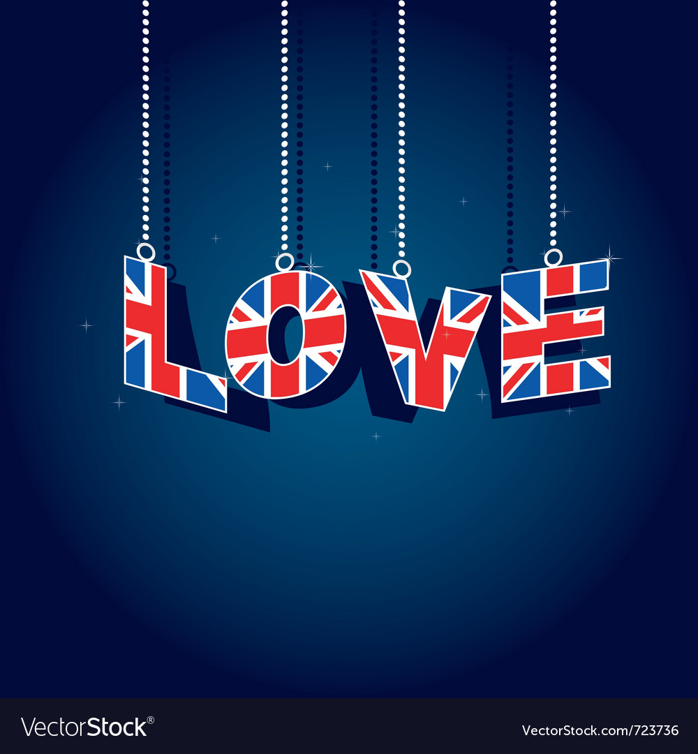 United kingdom love vector