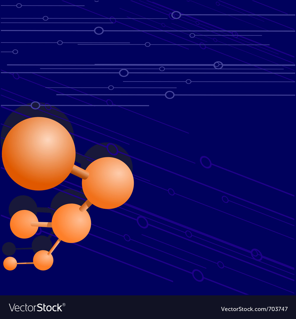 Background with a molecule vector