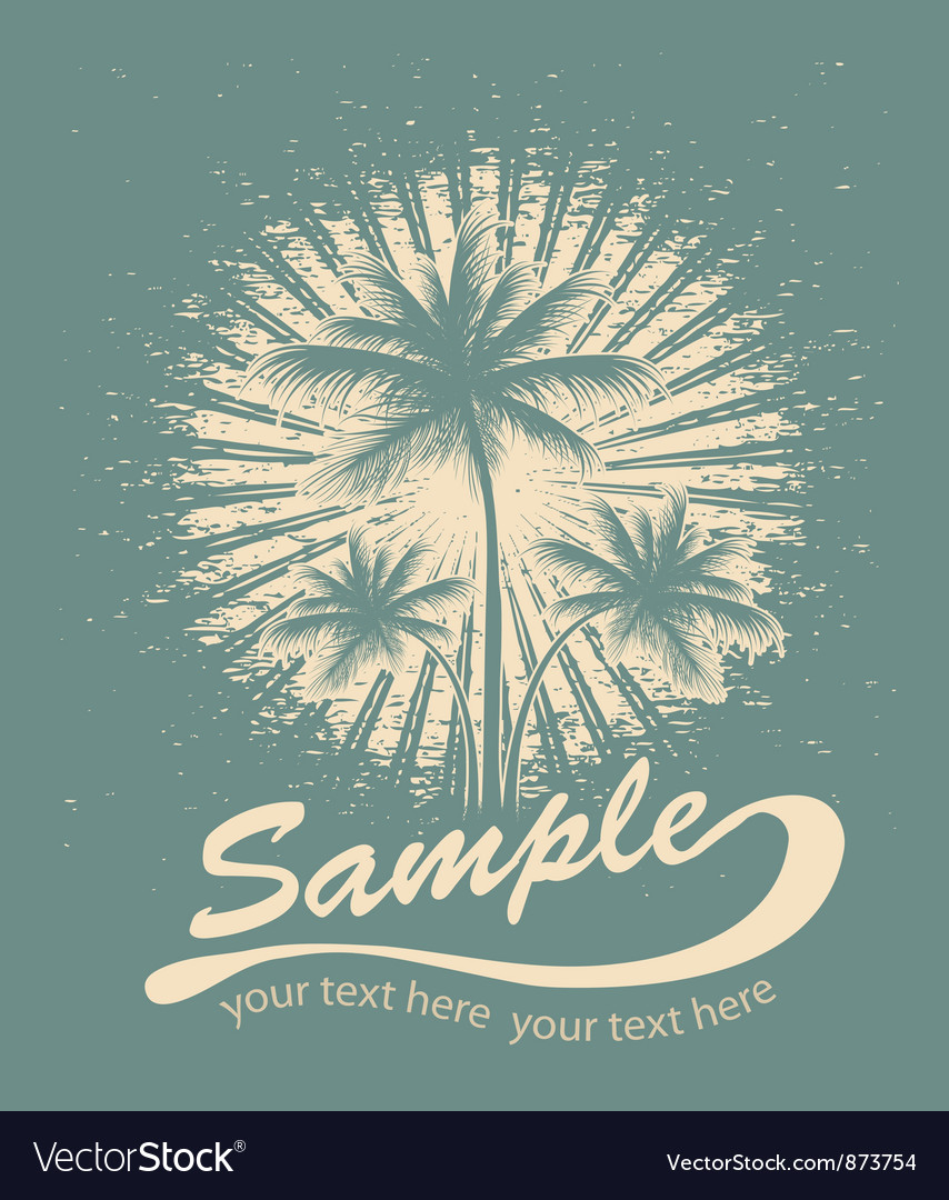 Free summer tshirt design vector