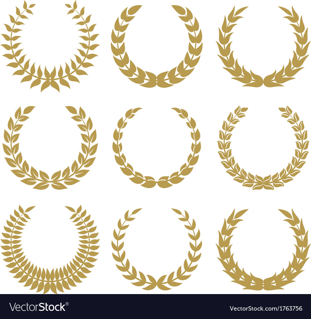 Laurel wreaths 1 vector