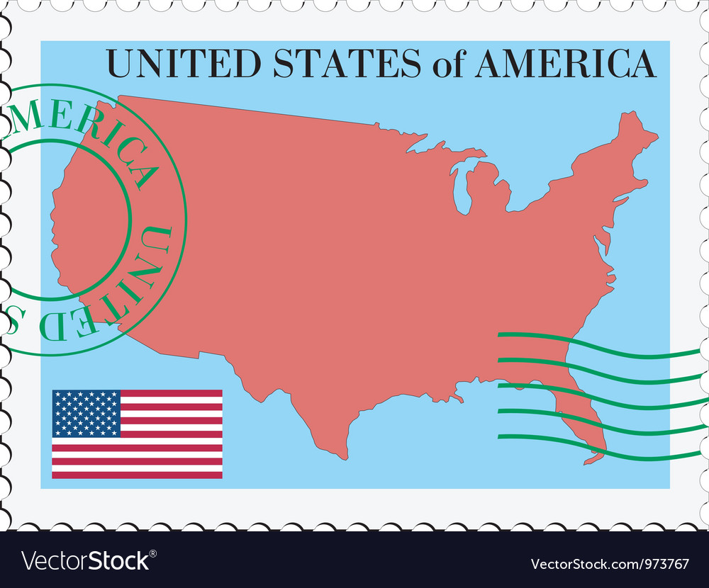 Mail tofrom united states vector