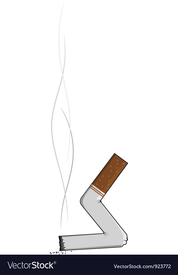 Extinguished cigarette butts vector
