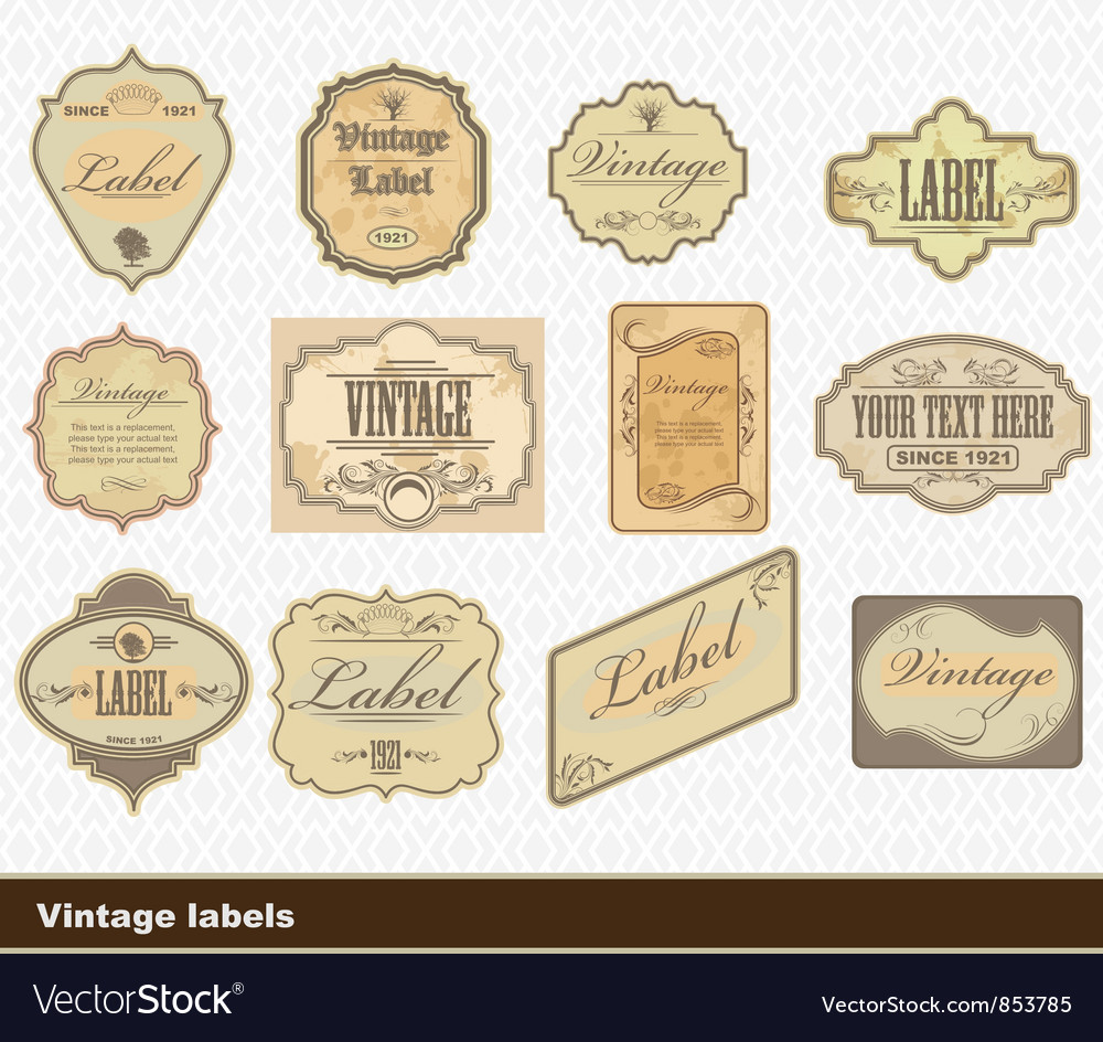 Free vintage labels set vector