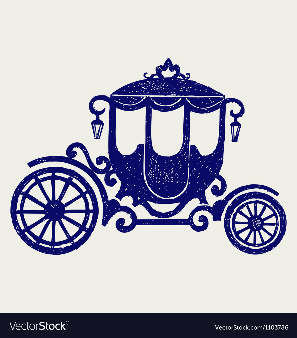 Vintage carriage vector