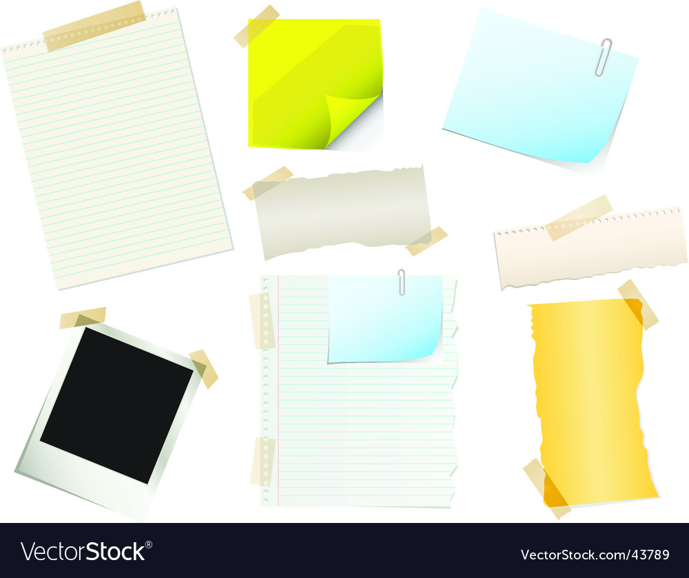 Papers and stickers vector