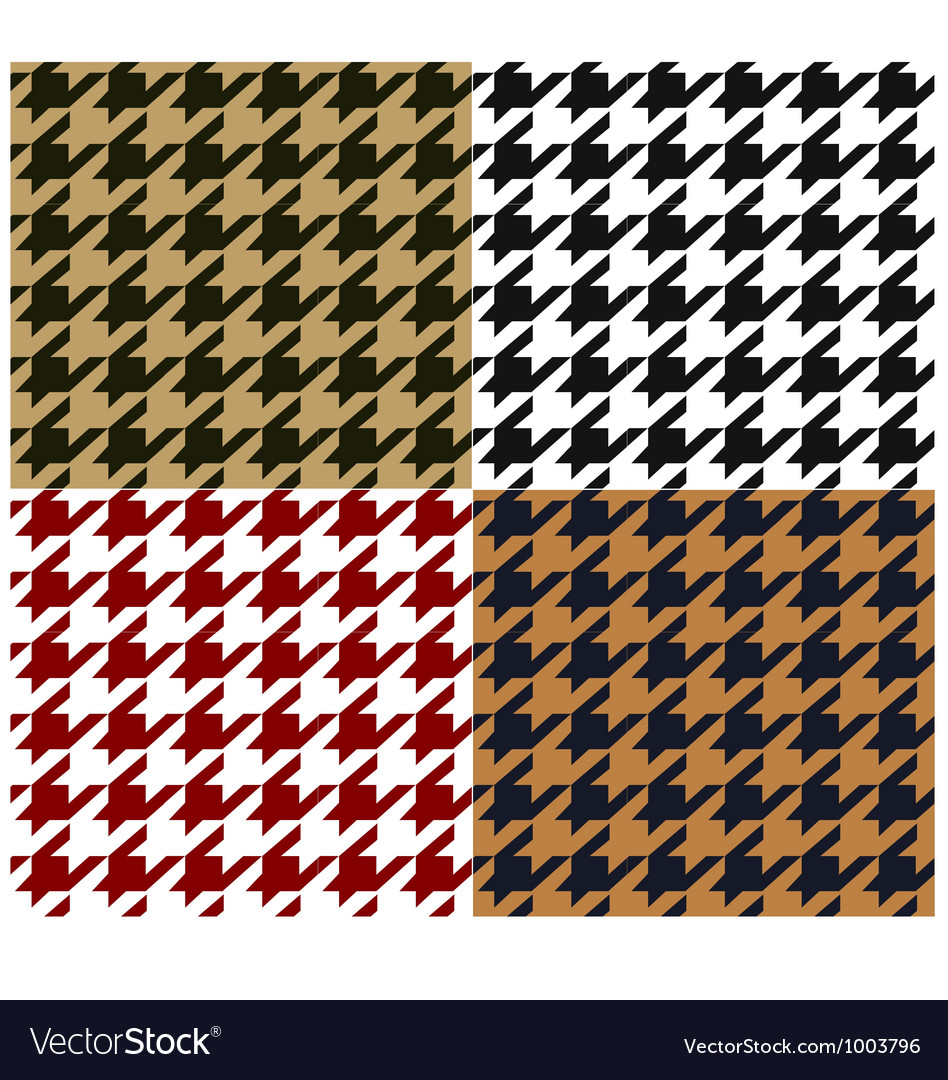Seamless houndstooth fabric pattern vector