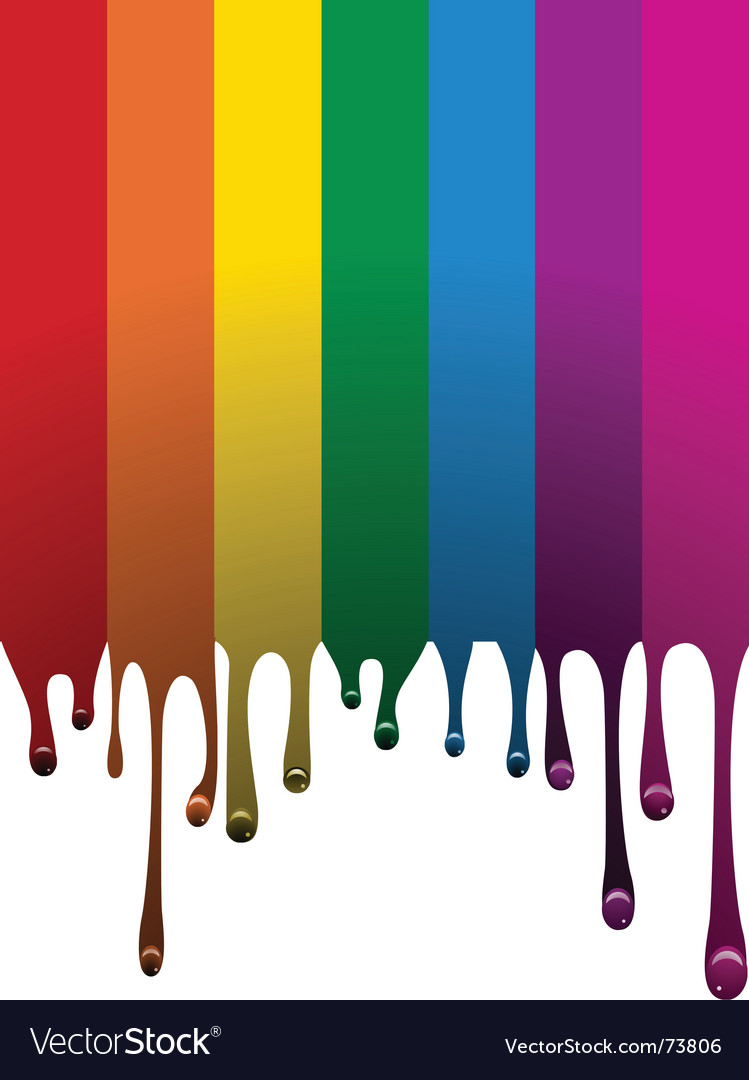Rainbow paint vector