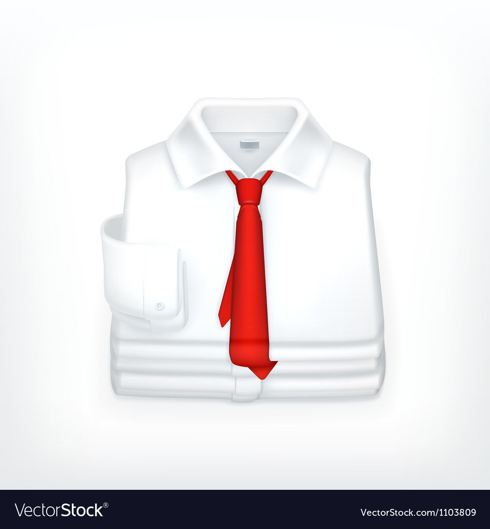White dress shirt vector