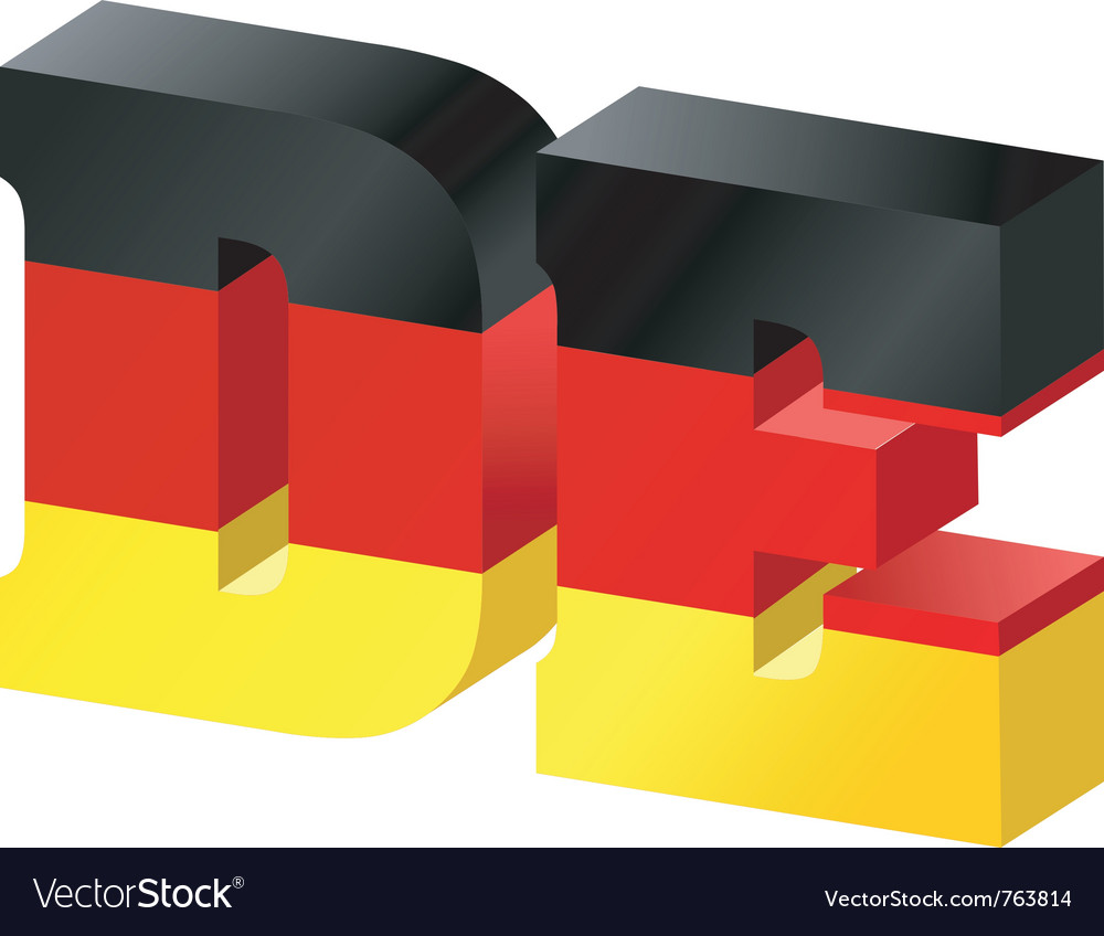 Internet toplevel domain of germany vector