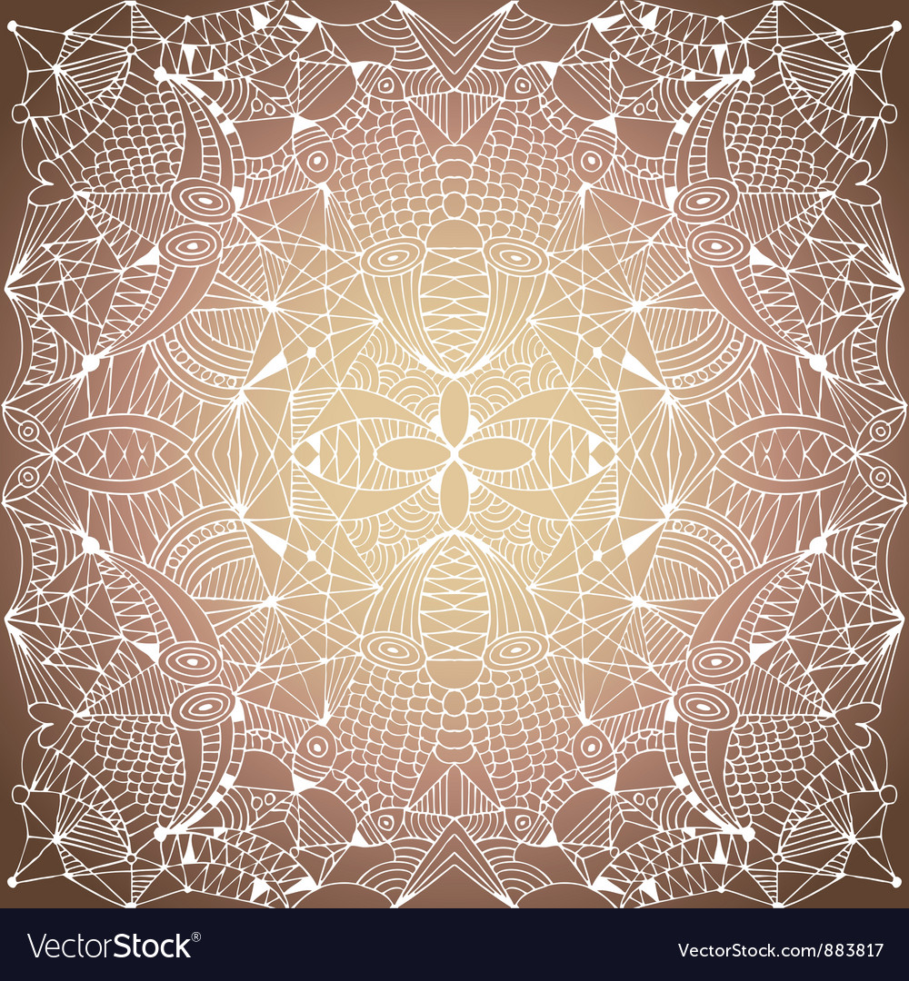 Abstract lace background vector