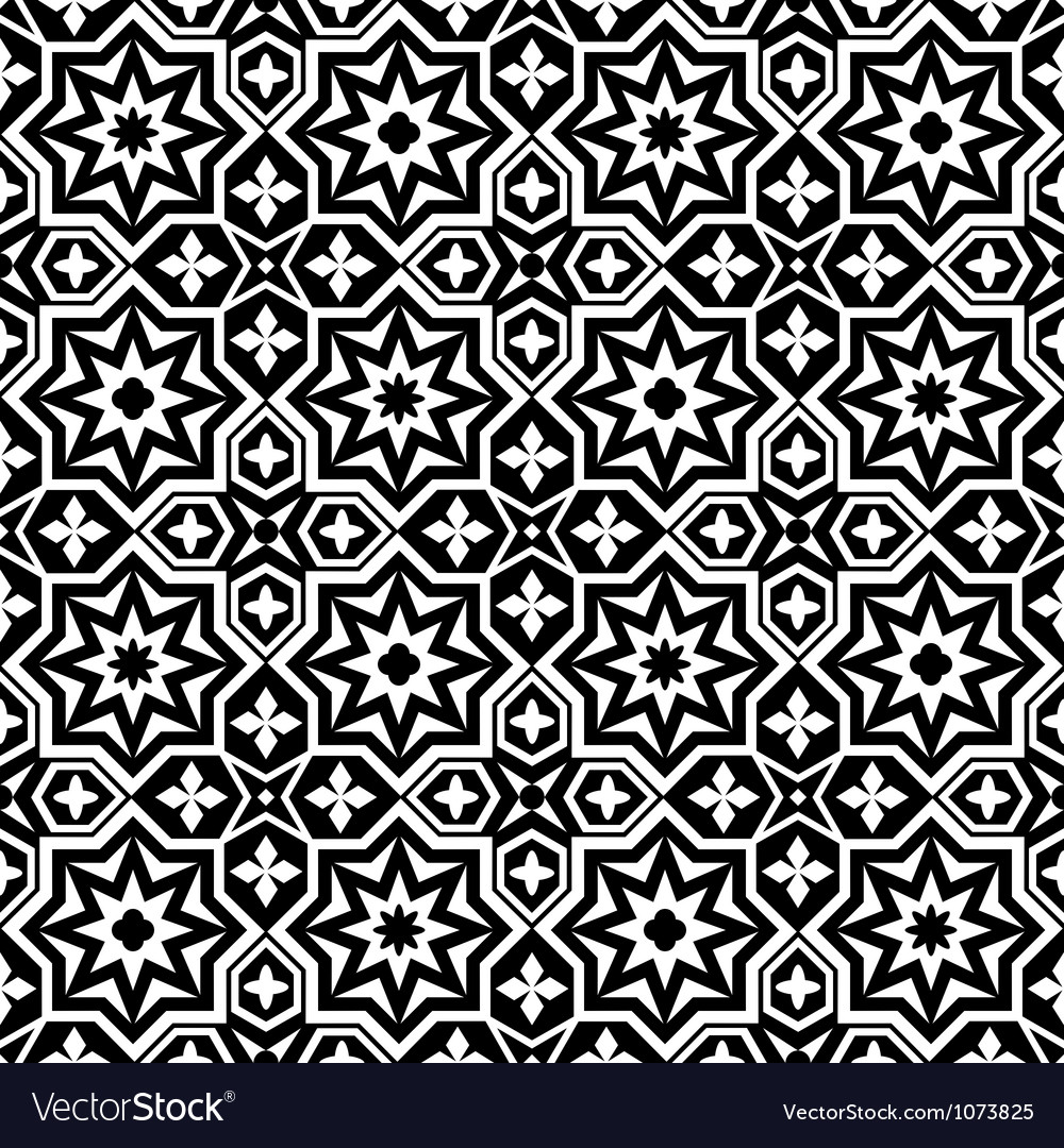 Abstract ornamental seamless pattern background vector