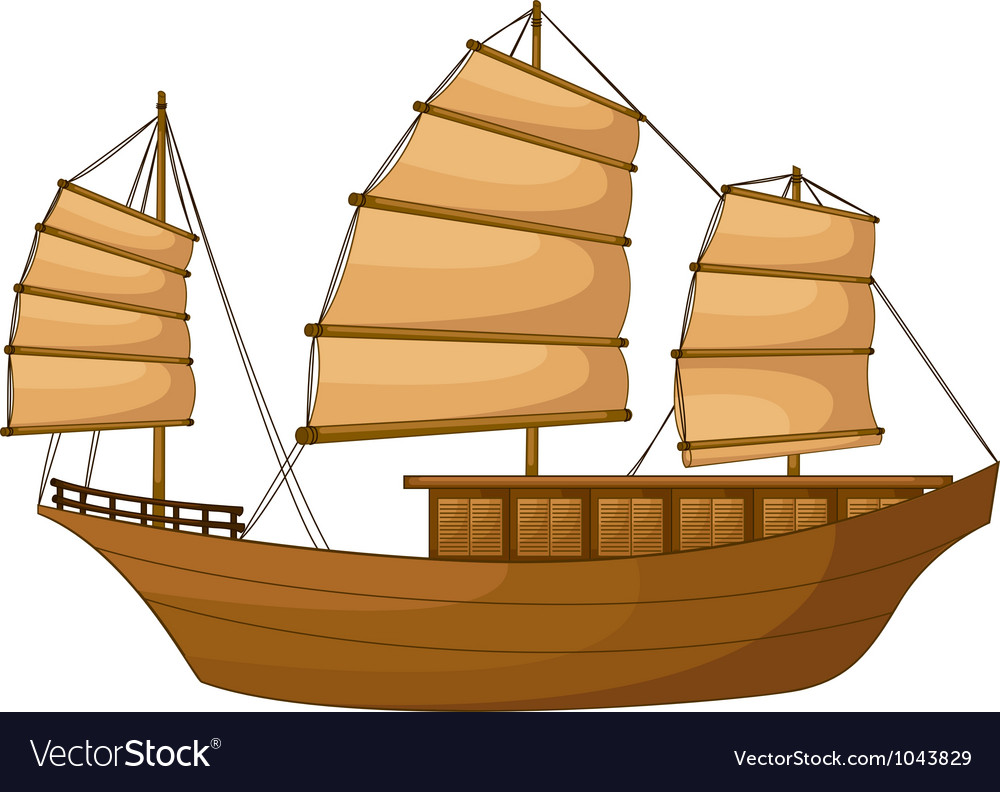 Full rigged ship vector