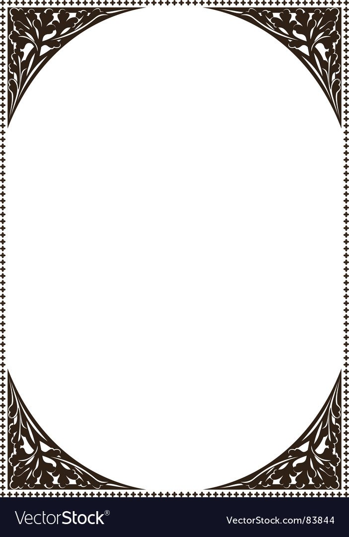 Ancient frame patterns vector