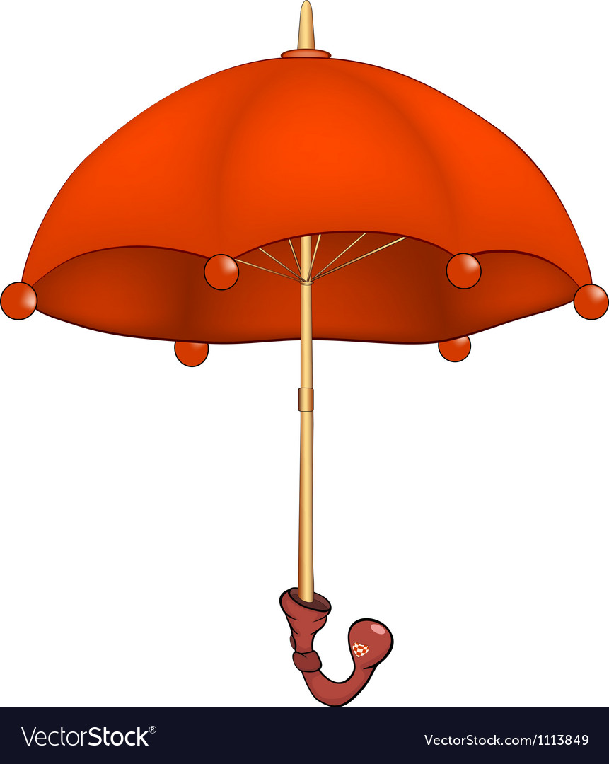 Red umbrella vector