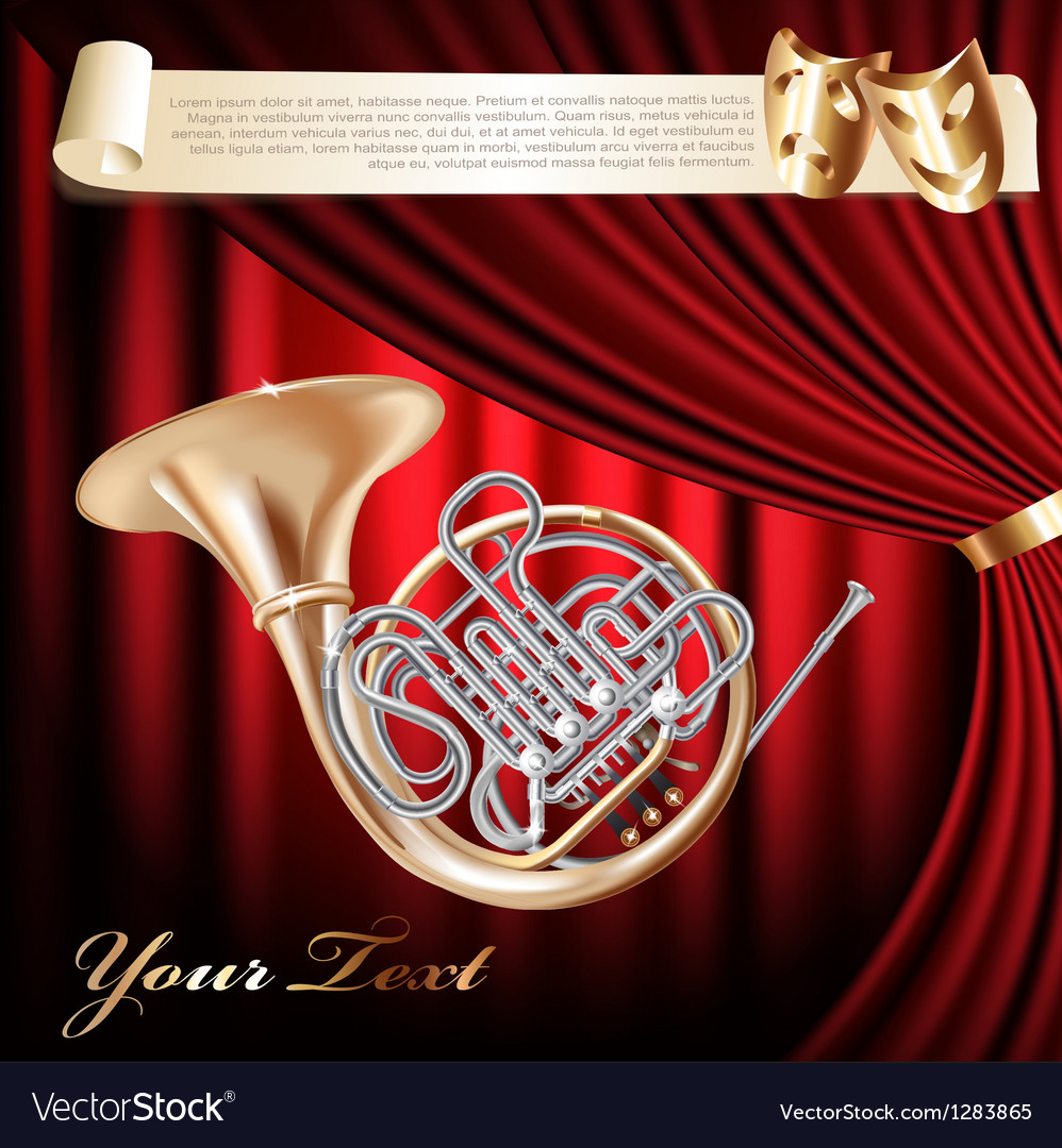 Classical french horn vector