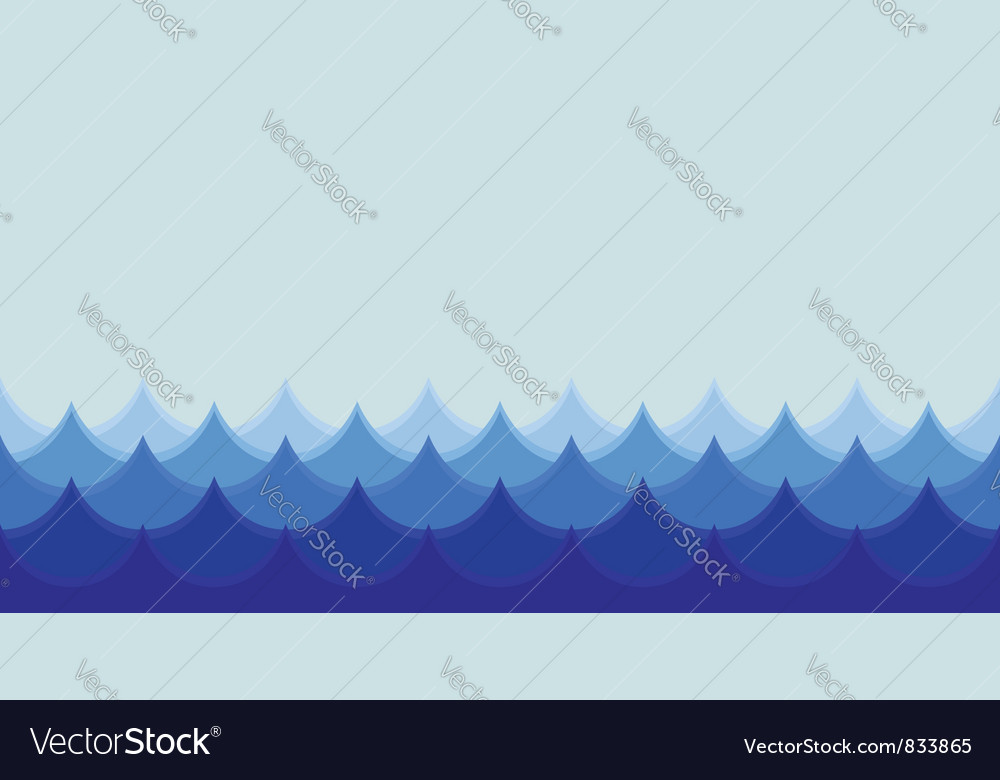 Seamless wave background vector