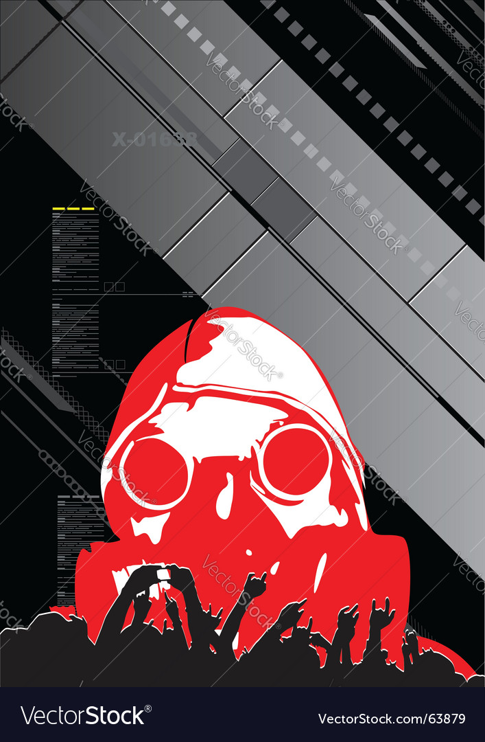 Digital poster vector