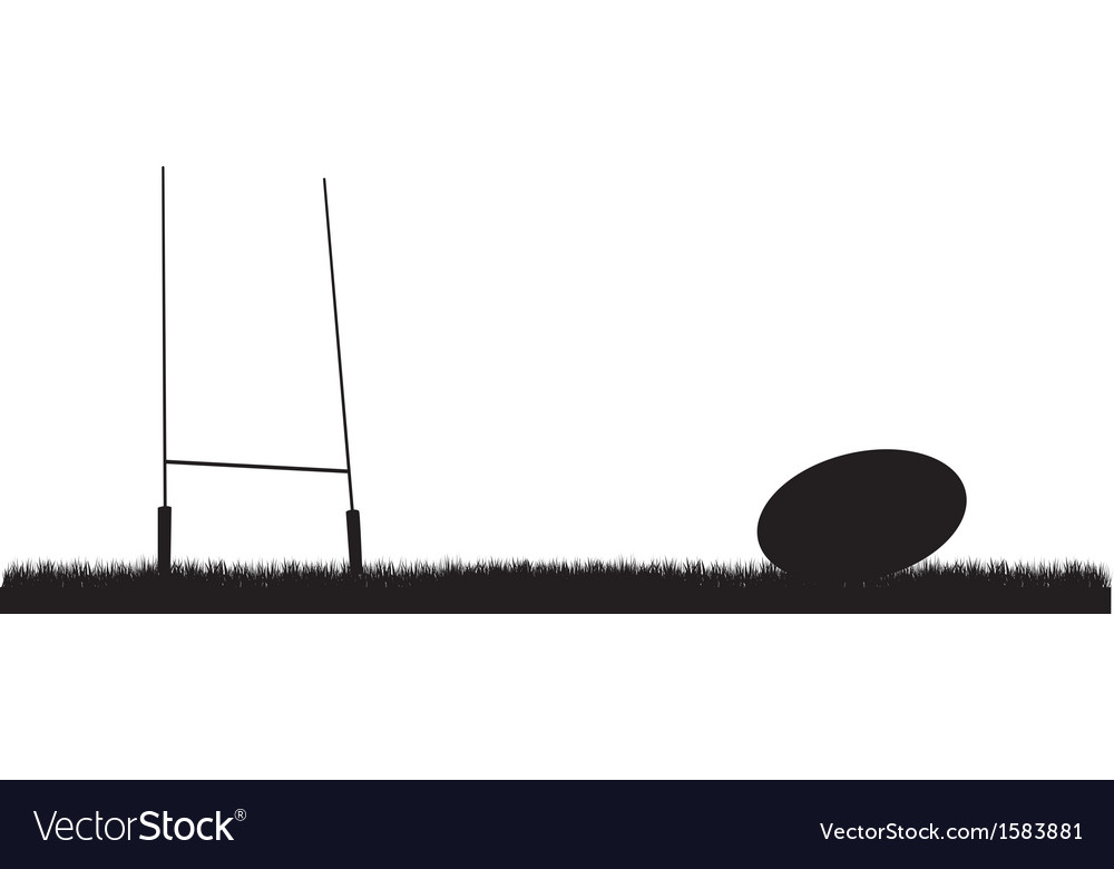 Rugby background vector