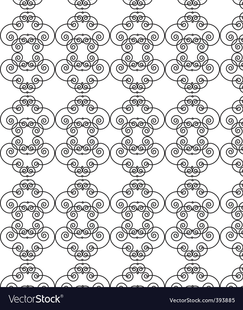 Filigree pattern vector