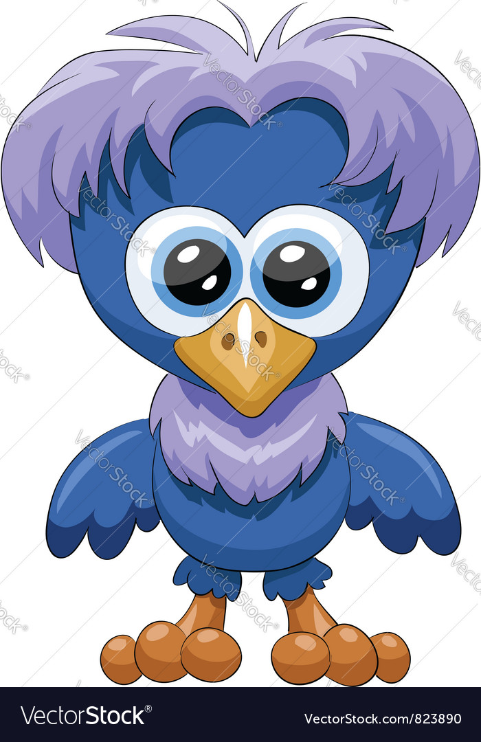 Blue chick vector