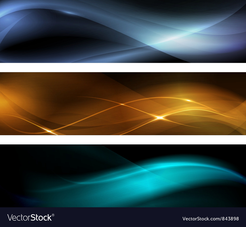 Abstract wave banner vector