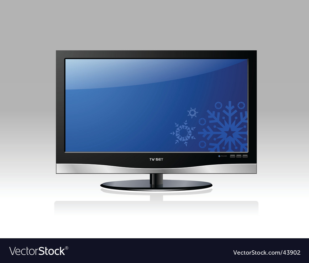 Lcd tv set vector