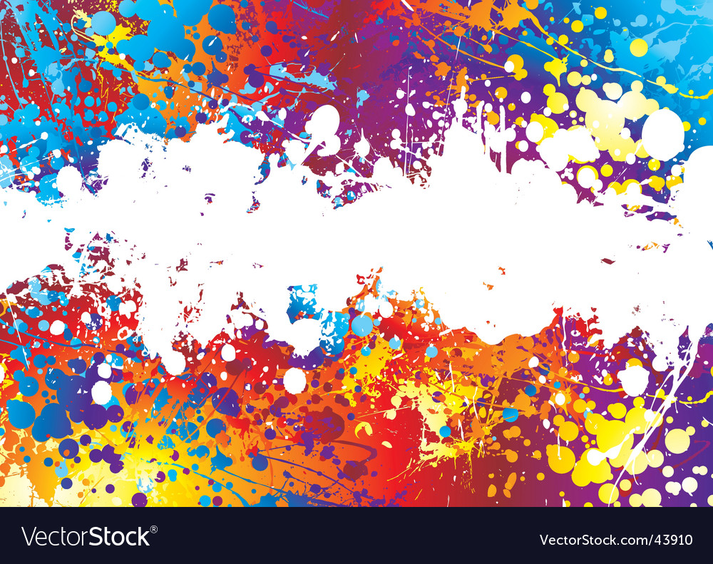 Ink splat rainbow background vector