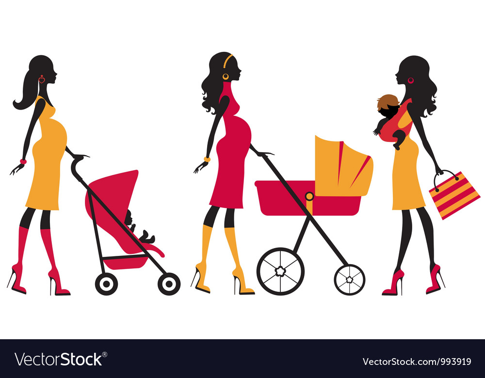 Chick motherhood vector