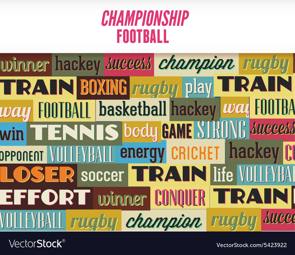 With sport typography