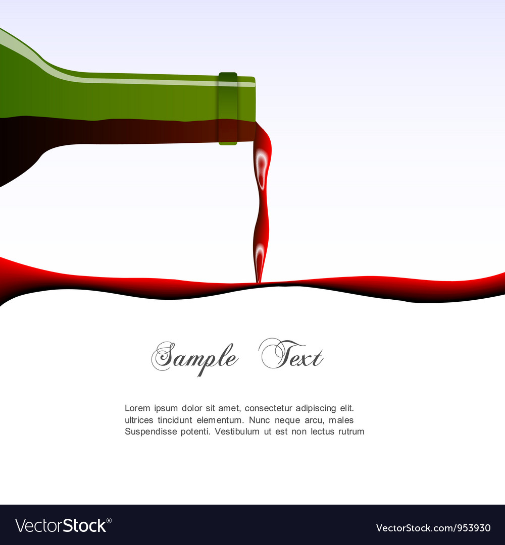 Pouring wine concept vector