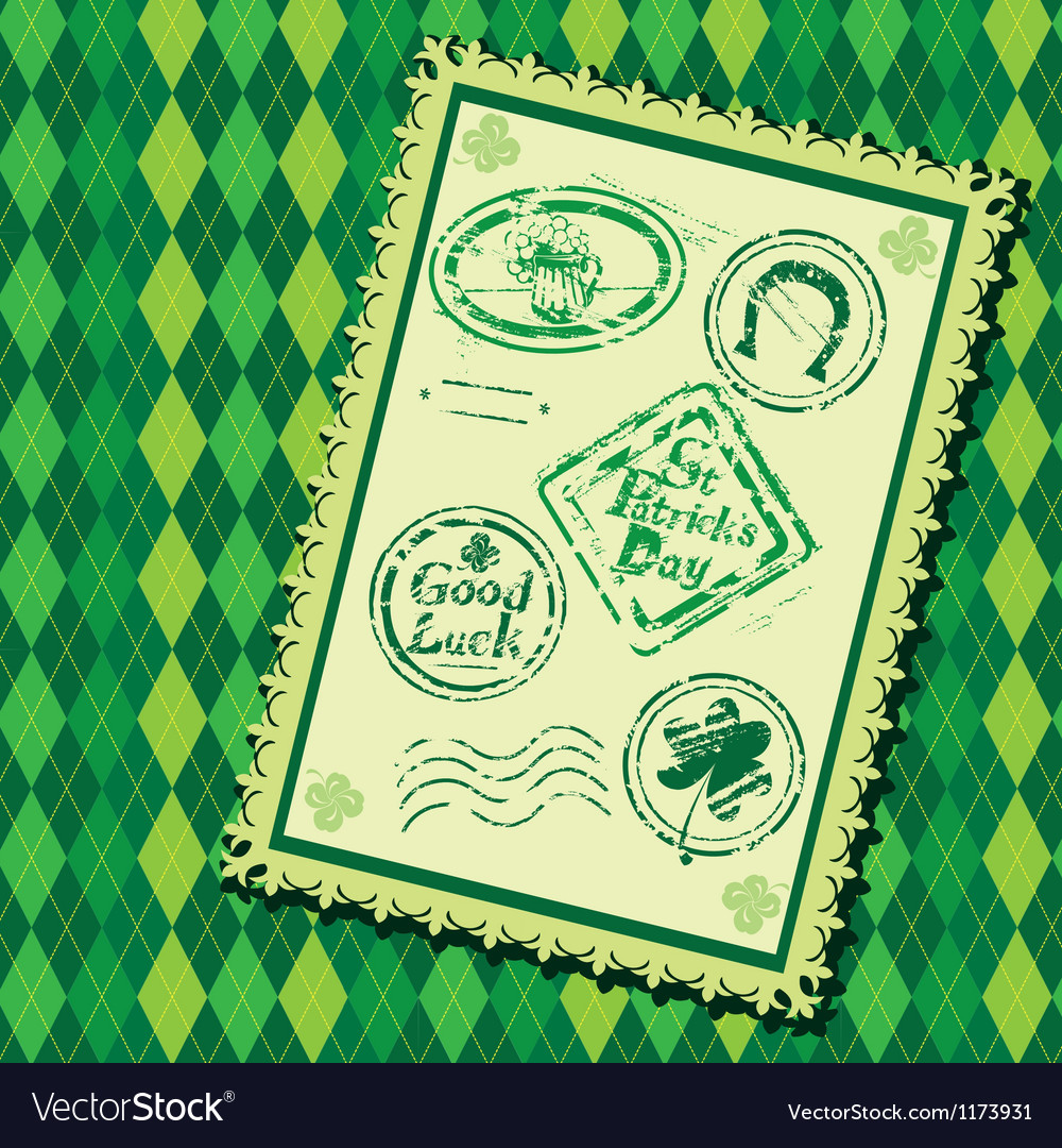 Set of green grunge rubber stamps with beer mug vector
