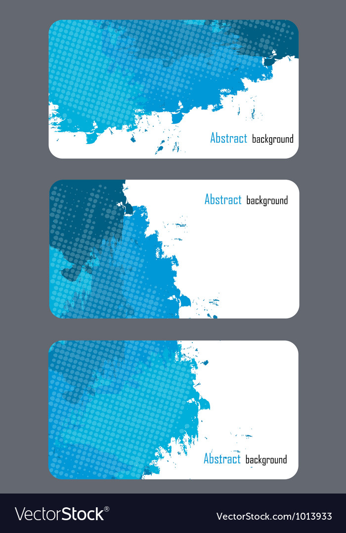 Business card templates with abstract background vector