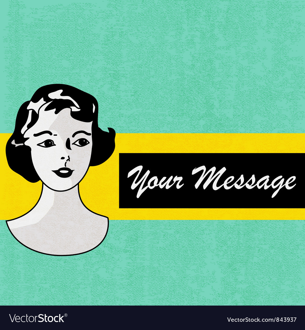 Retro message background vector