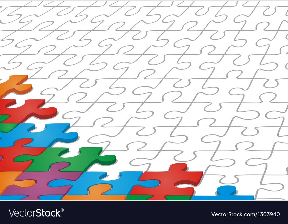 Manycolored puzzle pattern vector