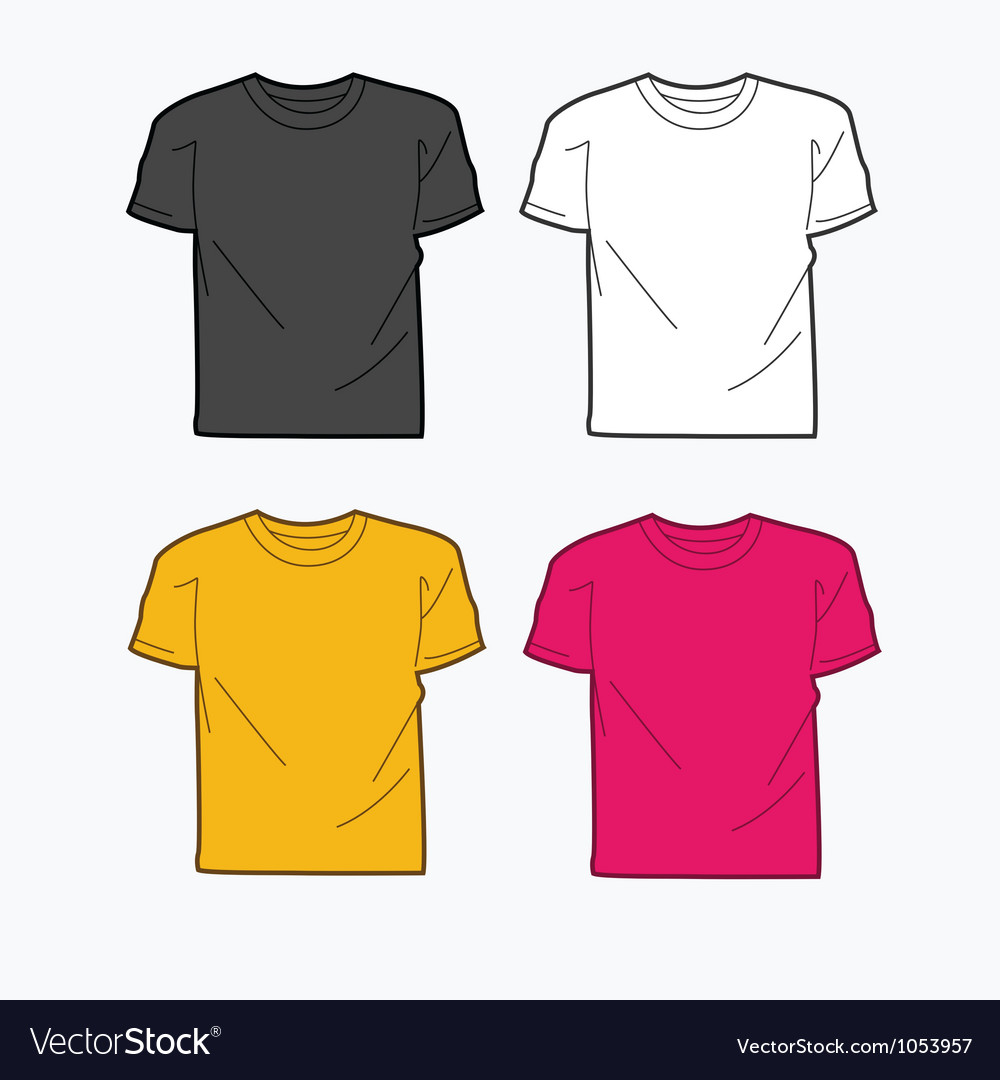 Men tshirt template vector