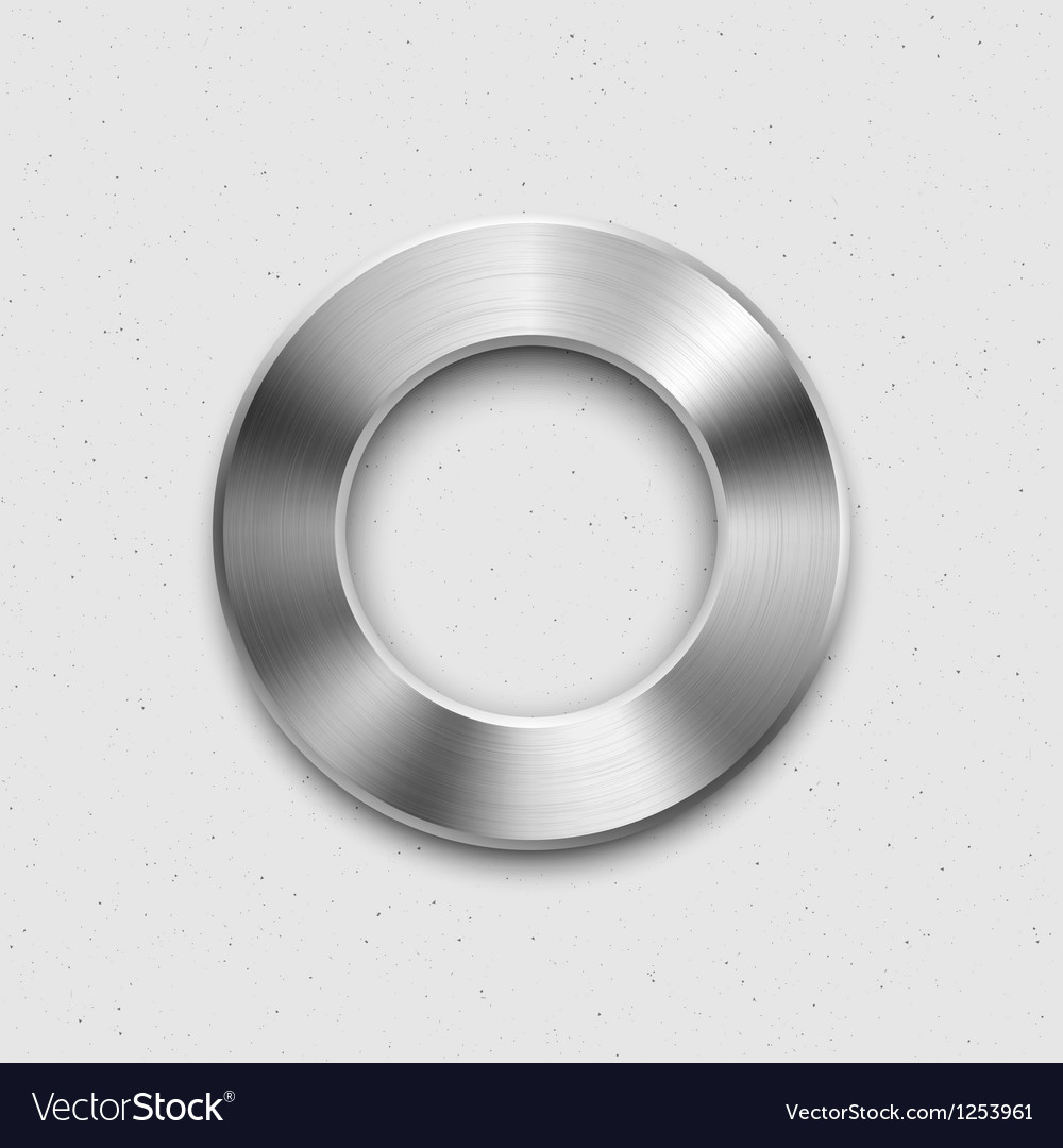 Metallic volume button icon vector