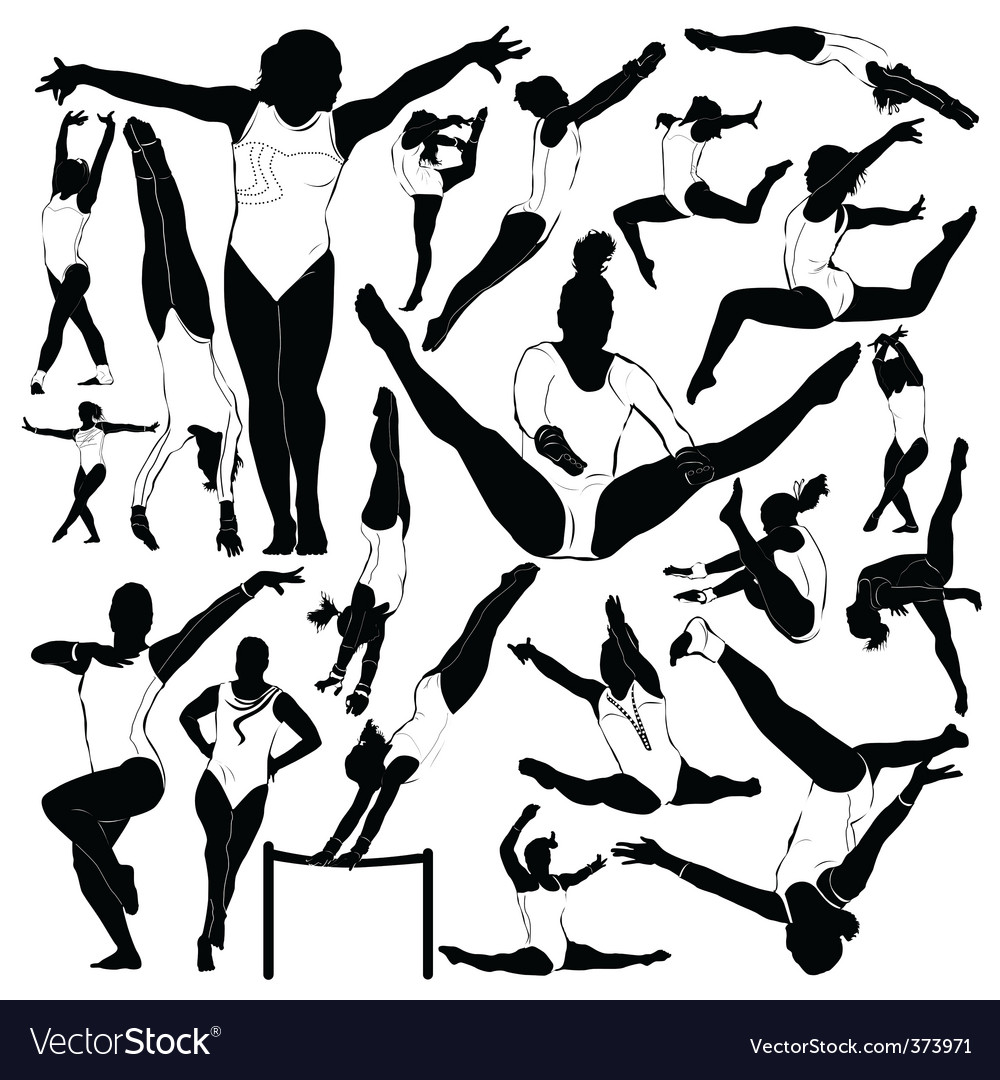 Athletic and gymnastics vector
